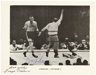 1959 Ingemar Johansson / Floyd Patterson Heavyweight Championship Signed 8x10 B&W Photo (JSA)