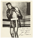 1960s Floyd Patterson Heavyweight Champion Signed 8x10 B&W Photo (JSA)