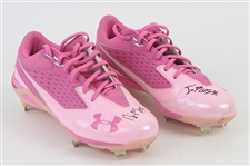 2011 Nyjer Morgan Milwaukee Brewers Signed Under Armour Cleats (MEARS LOA/JSA)