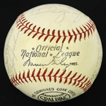 1968 Detroit Tigers World Series Champions Team Signed ONL Giles Baseball w/ 23 Signatures Including Al Kaline, Eddie Mathews, Denny McLain, Bill Freehan & More (JSA)