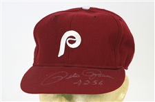 1979-83 Pete Rose Philadelphia Phillies Signed Game Worn Cap (MEARS LOA/JSA)
