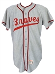 1958-66 Braves #47 Game Worn Wilson Flannel Jersey (MEARS LOA)