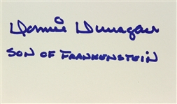 1939 Donnie Dunagan Son of Frankenstein Signed LE 3x5 Index Card (JSA)