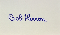 1953 Bob Herron Invaders from Mars Signed LE 3x5 Index Card (JSA)