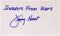 1953 Jimmy Hunt Invaders from Mars Signed LE 3x5 Index Card (JSA)