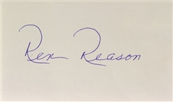 1956 Rex Reason The Creature Walks Among Us Signed LE 3x5 Index Card (JSA)