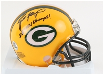 1992-2007 Brett Favre Green Bay Packers Signed Mini Helmet (Brett Favre Hologram)