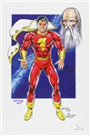 1940s circa Jack Katz Captain Marvel Pencil, Ink, Color Signed 11x17 Color Print (JSA)
