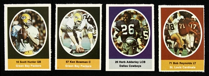 1972 Sunoco Football Stamps (Lot of 4)