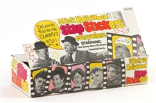 1970s Stick Hollywood Slap-Stickers Retail Display Box