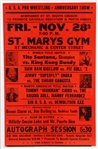 "1997 USA Pro Wrestling Anniversary Show 17"" x 26"" Broadside w/ Tito Santana, King Kong Bundy, Bam Bam Bigelow & More"
