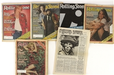 1979-87 Rolling Stone Magazine Collection - Lot of 74 w/ John Lennon First Issue Reprint, Years in Review, Special Issues & More
