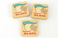 1959 Blatz Beer Smoother, Fresher, Far Less Filling Bar Coasters - Lot of 33