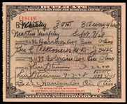 1928 Whiskey Prescription Form For Medicinal Liquor Issued During Prohibition