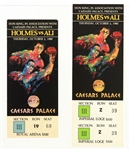 1980 (October 2) Larry Holmes Muhammad Ali Caesars Palace Heavyweight Title Fight Full Ticket & Stub - Lot of 2