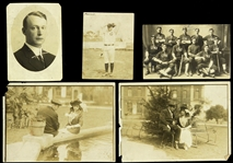"1910s Vintage Baseball 12"" x 16"" Original Photo Display w/ 5 Photos"