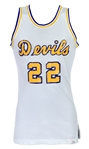 1960s Devils Game Worn Spalding Basketball Jersey (MEARS LOA)