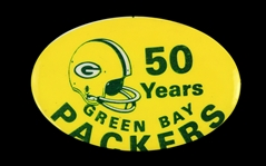 "1969 Green Bay Packers ""50 Years"" 2 3/4"" Pinback Button"
