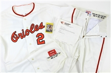 1991 (June 19) Bob Melvin Baltimore Orioles Game Worn Turn Back The Clock Home Uniform (MEARS LOA/Team Letter)