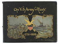 1776-1899 The US Army & Navy Oversize Hardcover Book w/ Color Illustrations