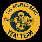 "1950s Los Angeles Rams ""Yea! Team"" 3"" Pinback Button"