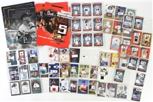 1990s-2000s Baseball Football Game Used & Signed Trading Card Collection - Lot of 65 w/ Johnny Bench, Randy Johnson, Joey Votto, Michael Vick & More