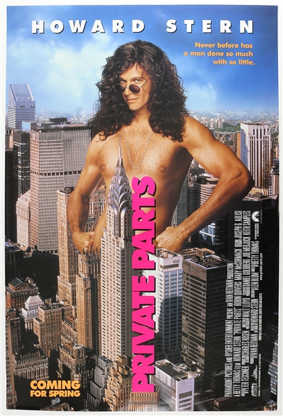 "1997 Howard Stern Private Parts 27""x 40"" Film Poster"