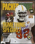 2007 Justin Harrell Green Bay Packers Signed Packer Report (JSA)
