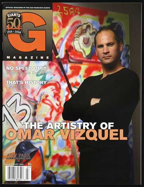 2008 Omar Vizquel San Francisco Giants Official Magazine