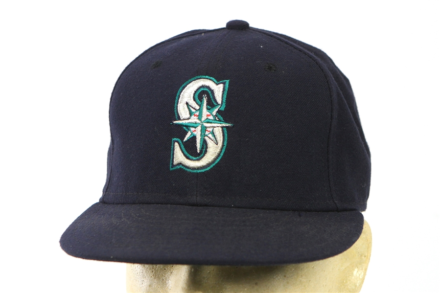 2011 Trayvon Robinson Seattle Mariners Game Worn Cap (MEARS LOA/MLB Hologram)