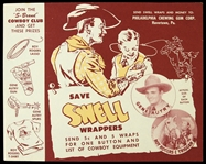 1940s Gene Autry Swell Chewing Gum Promotional Ad