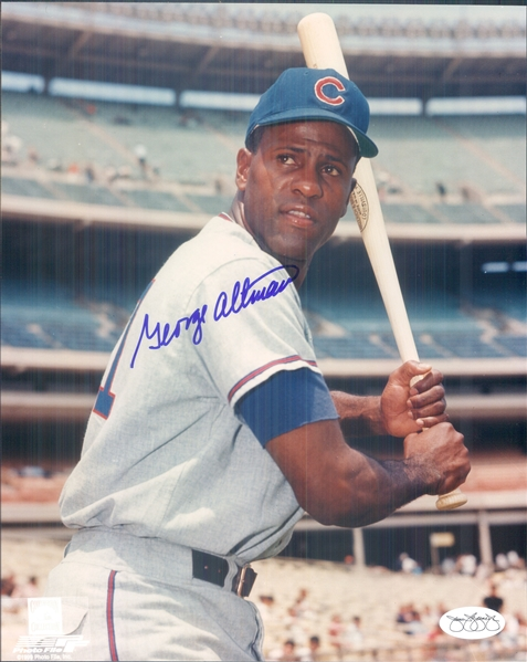 "1959-67 George Altman Chicago Cubs Signed 8"" x 10"" Photo (*JSA*)"