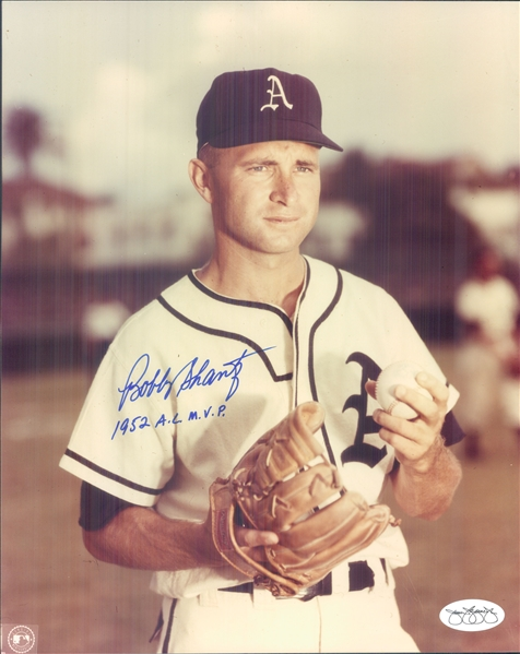 "1949-54 Bobby Shantz Philadelphia Athletics Signed 8"" x 10"" Photo (*JSA*)"
