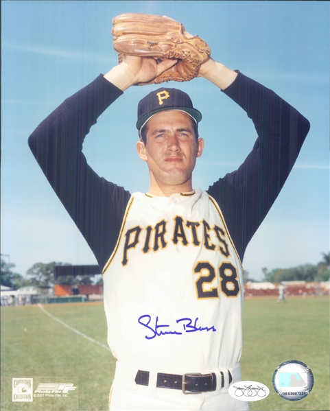"1964-74 Steve Blass Pittsburgh Pirates Signed 8"" x 10"" Photo (*JSA*)"
