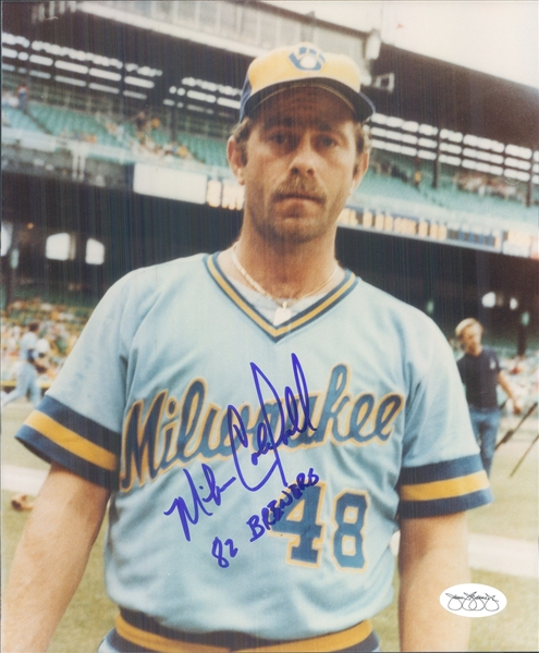 "1982 Mike Caldwell Milwaukee Brewers Signed 8"" x 10"" Photo (*JSA*)"