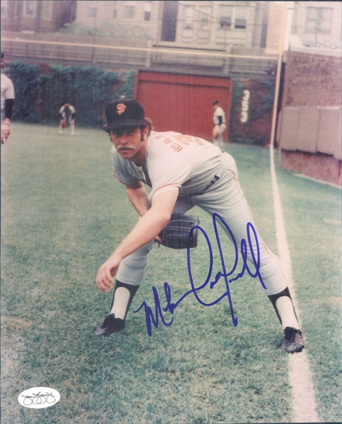 "1974-76 Mike Caldwell San Francisco Giants Signed 8"" x 10"" Photo (*JSA*)"