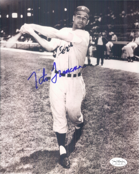 "1958 Tito Francona Detroit Tigers Signed 8"" x 10"" Photo (*JSA*)"