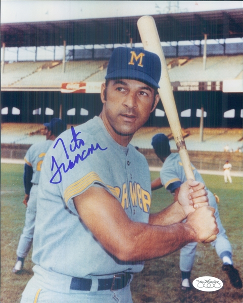 "1970 Tito Francona Milwaukee Brewers Signed 8"" x 10"" Photo (*JSA*)"