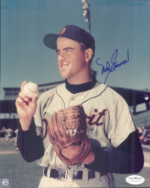 "1952-56 Ned Garver Detroit Tigers Signed 8"" x 10"" Photo (*JSA*)"