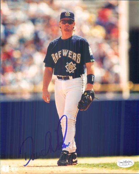 "1992-99 Dave Nilsson Milwaukee Brewers Signed 8"" x 10"" Photo (*JSA*)"