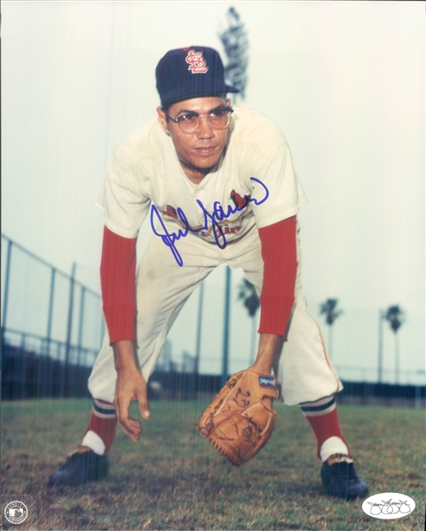 "1960-71 Julian Javier St. Louis Cardinals Signed 8"" x 10"" Photo (*JSA*)"