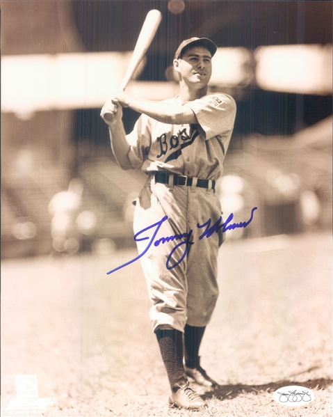 "1942-51 Tommy Holmes Boston Braves Signed 8"" x 10"" Photo (*JSA*)"