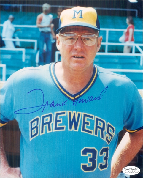 "1977-80 Frank Howard Milwaukee Brewers Signed 8"" x 10"" Photo (*JSA*)"