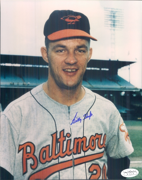 "1959-62 Billy Hoeft Baltimore Orioles Signed 8"" x 10"" Photo (*JSA*)"