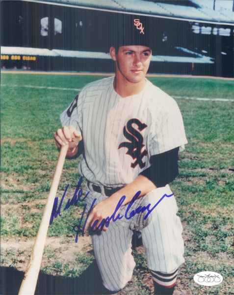 "1961-64 Mike Hershberger Chicago White Sox Signed 8"" x 10"" Photo (*JSA*)"
