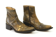 1970s William Shatner Worn Gianni Barbato Leather Ankle Boots (Shatner LOA/MEARS LOA)