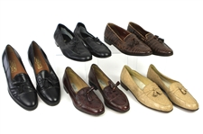 1980s William Shatner Worn Leather Loafer Collection - Lot of 8 Pairs w/ Davids, Alden, Salvatore Ferragamo, Mauri Alligator, Bally, Tanino Crisci, HS Trask & Lorenzo Banfi (Shatner LOA/MEARS LOA)