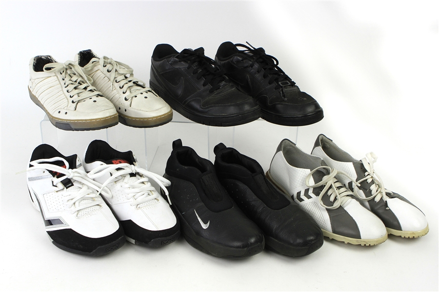 1990s-2000s William Shatner Worn Leather Sneaker & Casual Shoes Collection - Lot of 5 Pairs w/ Nike, Pony, Alberto Guardiani & Mark Nason (Shatner LOA/MEARS LOA)