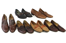 1980s William Shatner Worn Leather Loafer Collection - Lot of 6 Pairs w/ Lorenzo Banfi & Bally (Shatner LOA/MEARS LOA)
