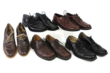 1990s-2000s William Shatner Worn Leather Dress Shoes Collection - Lot of 5 Pairs w/ Kenneth Cole, Barneys, Ecco, Florsheim & Bravo Browns (Shatner LOA/MEARS LOA)